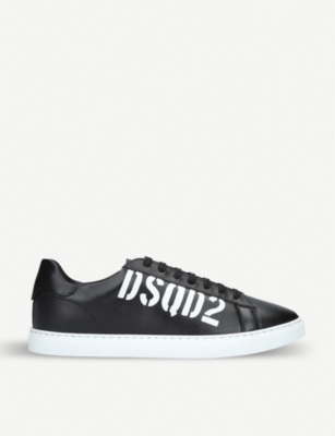 DSQUARED2 New Tennis leather trainers