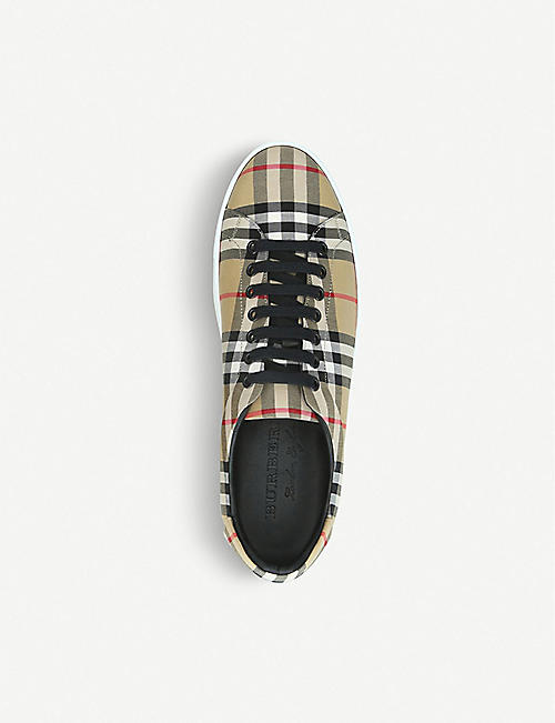BURBERRY Albert Vintage Check canvas trainers
