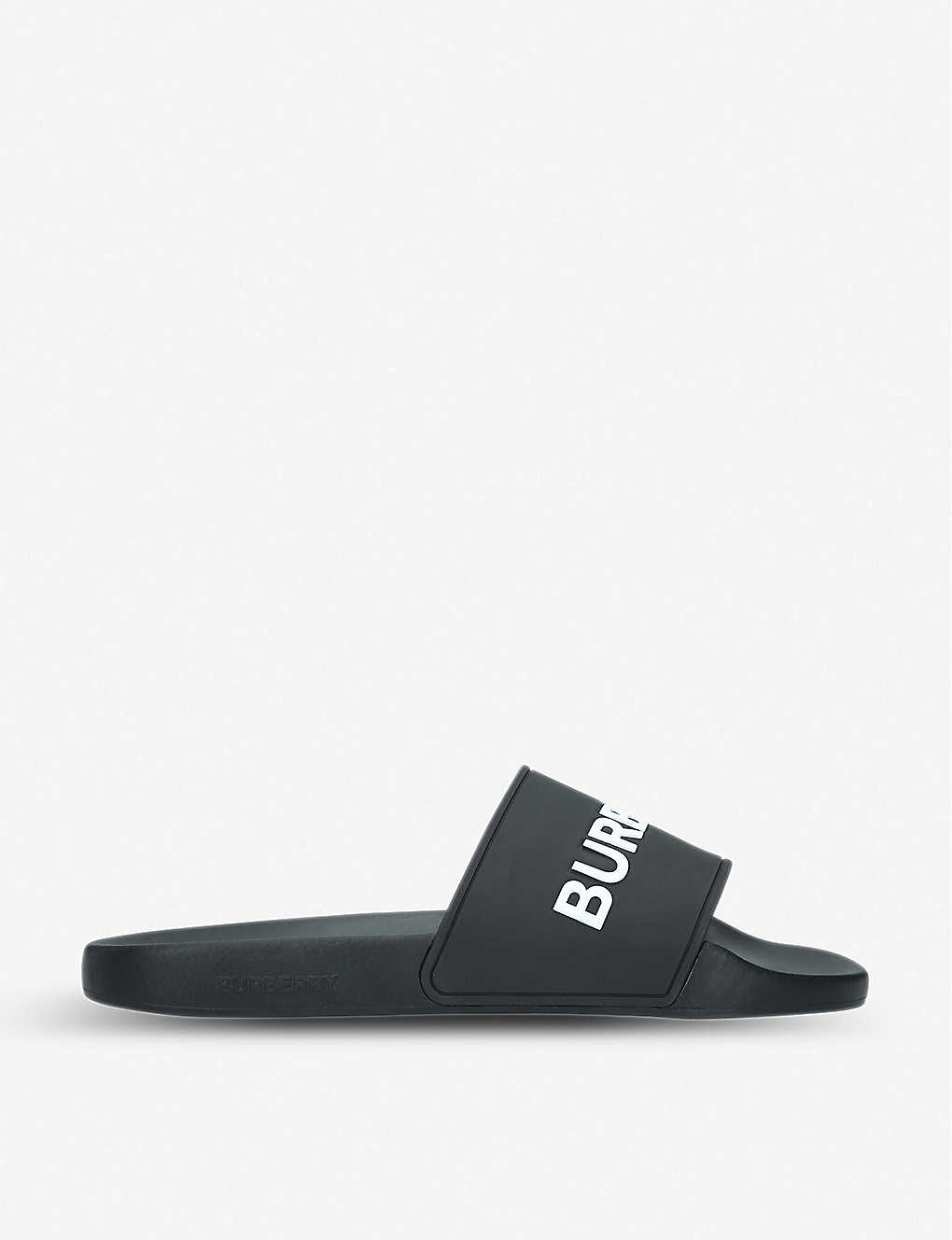 BURBERRY: Furley rubber sliders