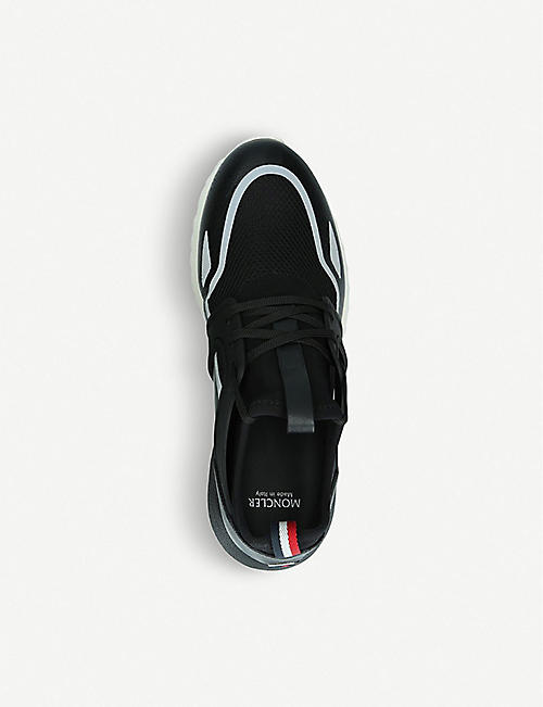 MONCLER Emilien leather, neoprene and mesh trainers