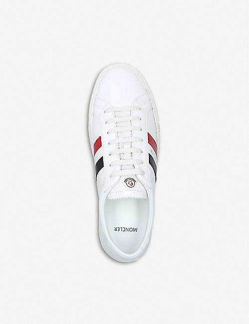 MONCLER New Monaco leather trainers
