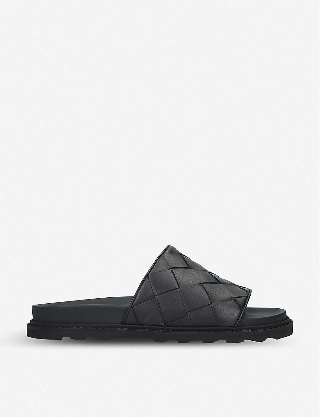 BOTTEGA VENETA: Intrecciato leather slider sandals