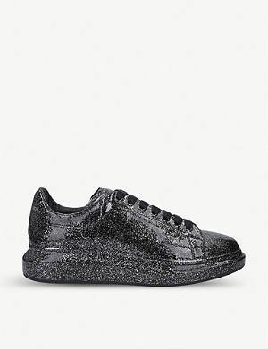 ALEXANDER MCQUEEN Show patent glitter trainers