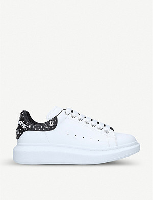 ALEXANDER MCQUEEN Show stud-detail leather trainers