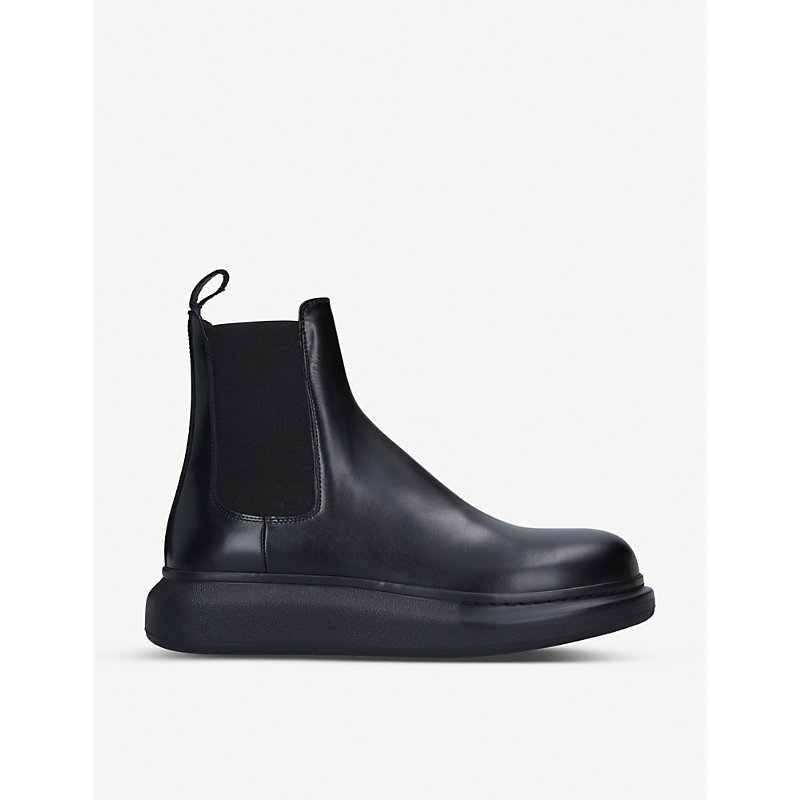 Alexander Mcqueen Boots HYBRID LEATHER CHELSEA BOOTS