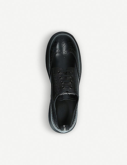 ALEXANDER MCQUEEN Hybrid lace-up leather shoes