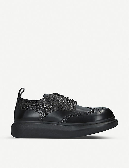 ALEXANDER MCQUEEN: Hybrid lace-up leather shoes