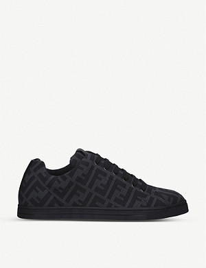 FENDI FF-print low top mesh trainers