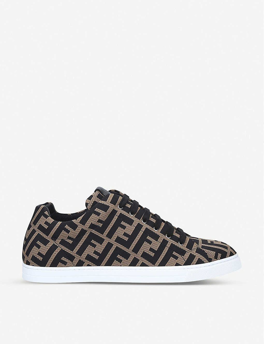 FENDI: FF-print low top mesh trainers