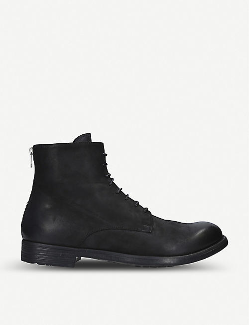 OFFICINE CREATIVE Hive leather lace-up boots