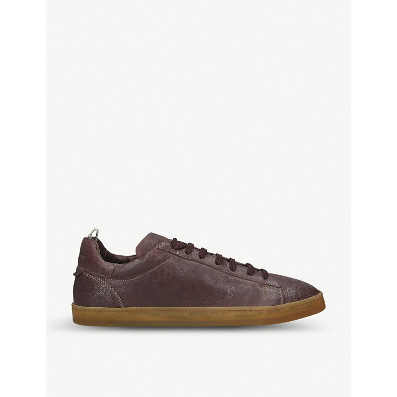 Karma Leather Trainers in Brown