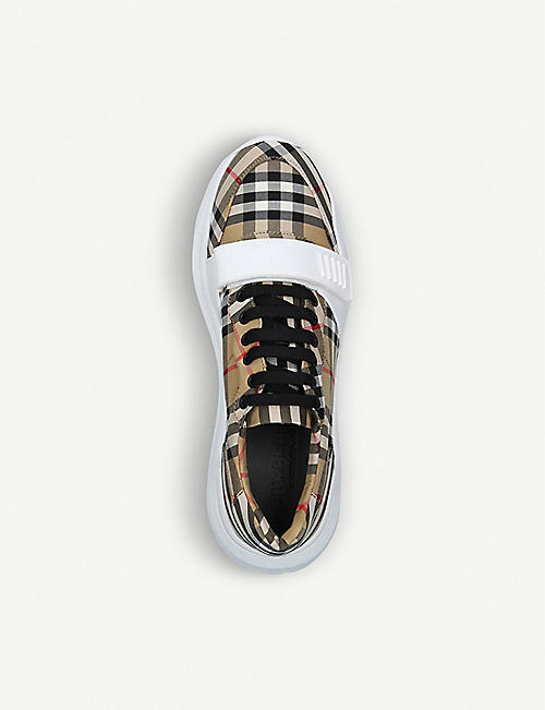 BURBERRY Regis Vintage Check canvas trainers