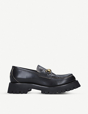 GUCCI Django Commander leather platform loafers