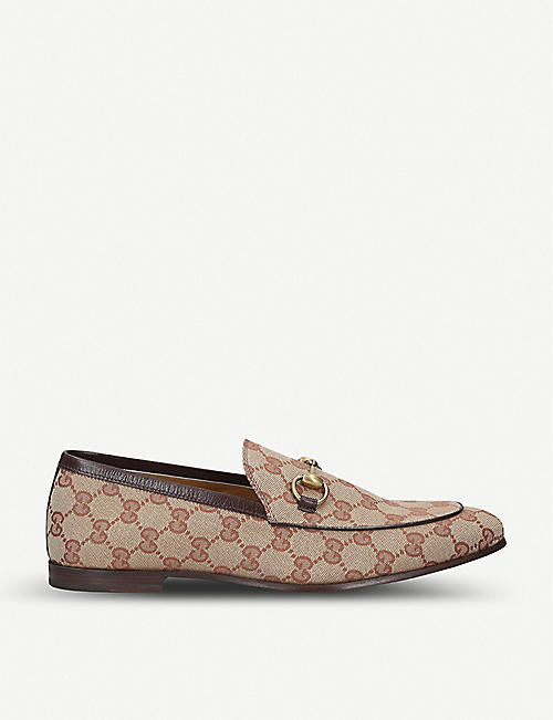 GUCCI: Jordan GG Supreme canvas loafers