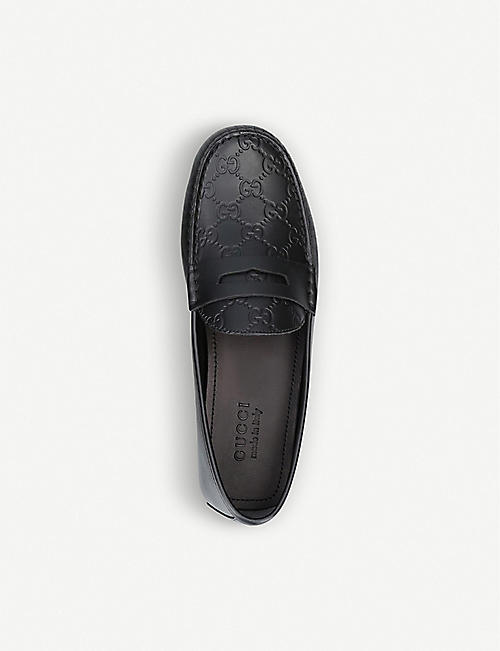 GUCCI Kanye monogram leather driver shoes