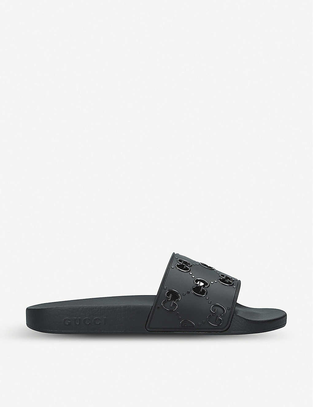 GUCCI: Pursuit GG cutout rubber sliders