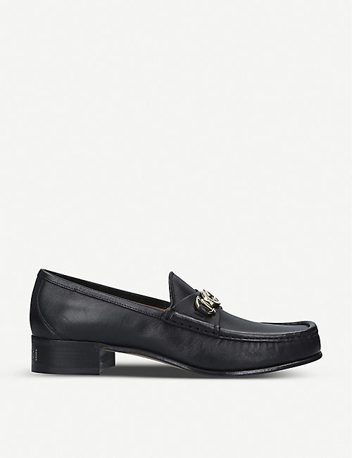 GUCCI Roos mixed-metal horsebit leather loafers