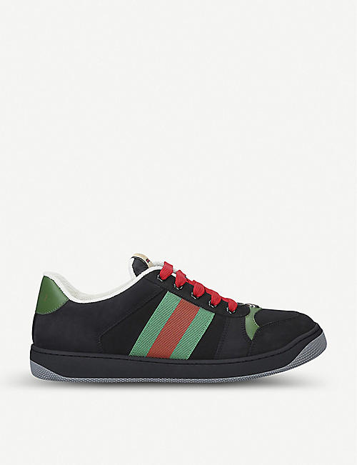 GUCCI Virtus suede trainers