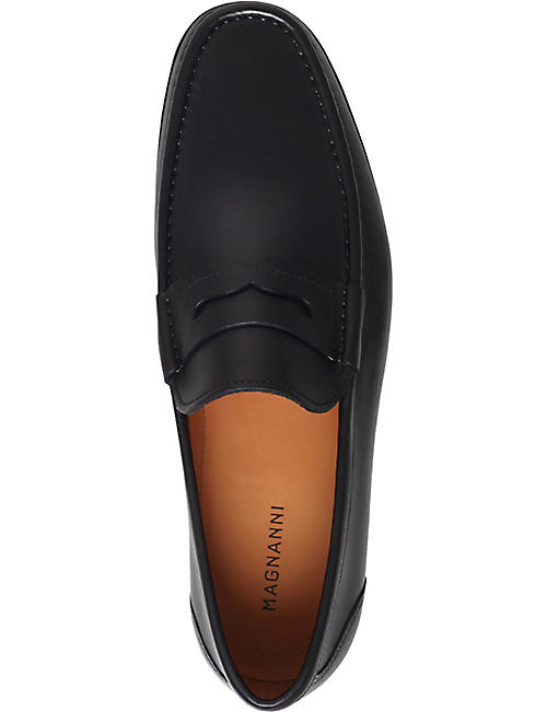 MAGNANNI Ares leather penny loafers