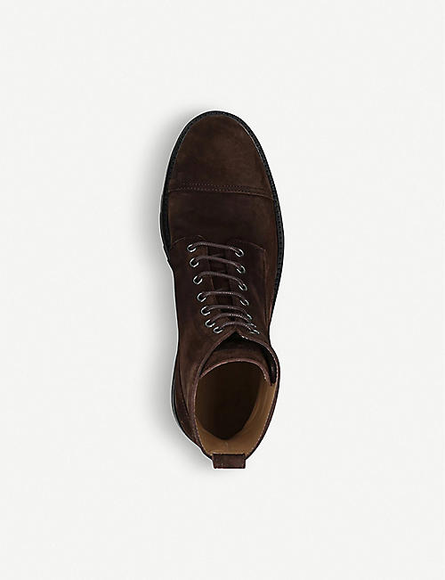 BELSTAFF New Alperton lace-up suede boots