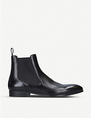 SANTONI: Simon leather Chelsea boots