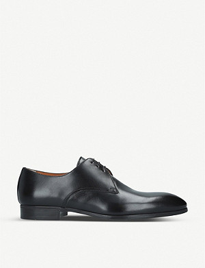 SANTONI Simon leather derby shoes
