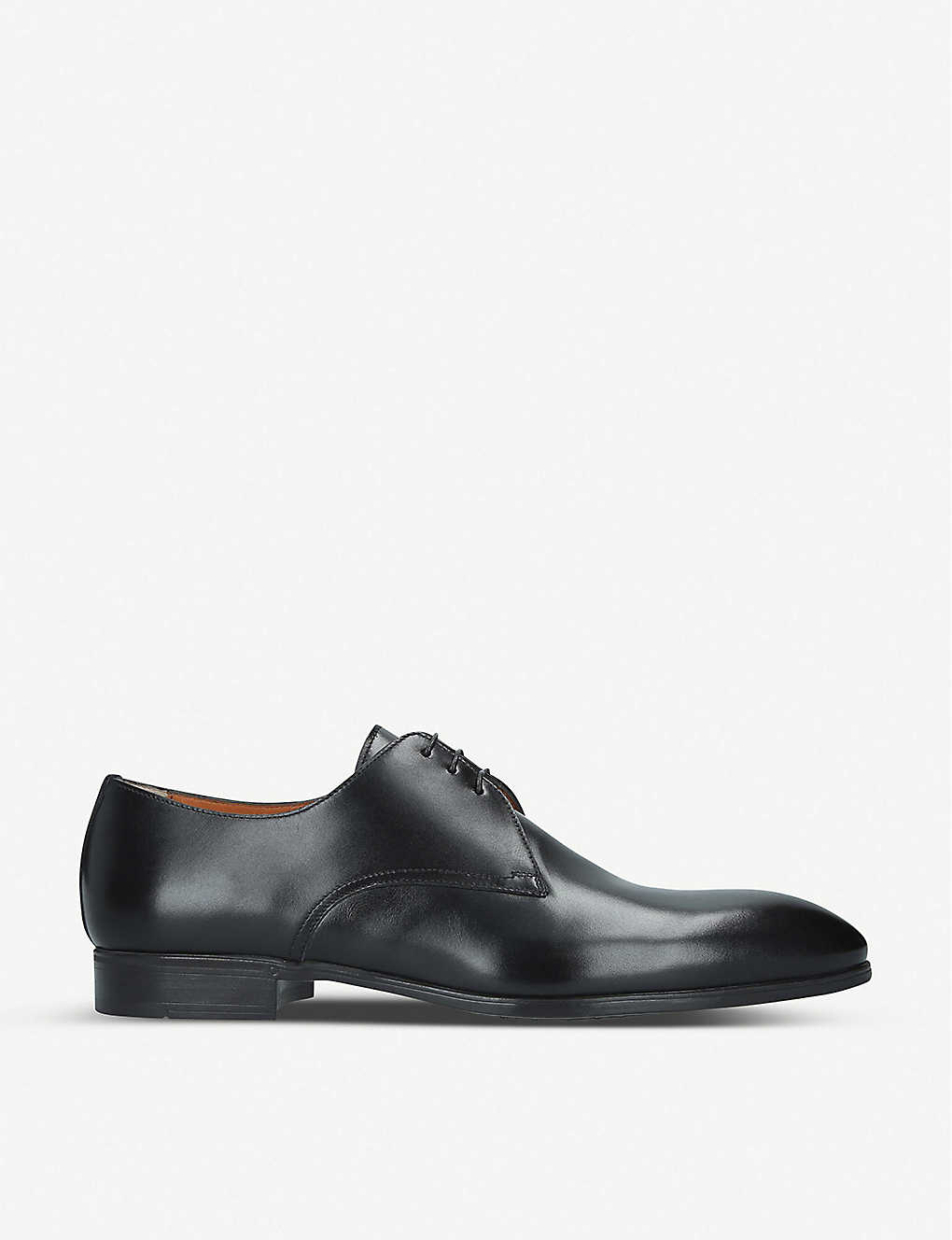 SANTONI: Simon leather derby shoes
