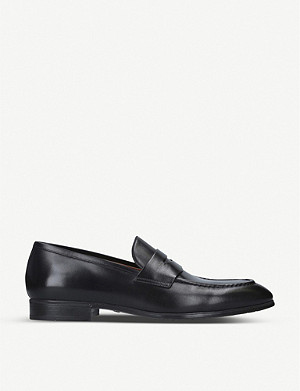 SANTONI Simon leather penny loafer