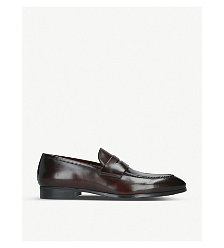 Santoni Loafers SIMON LEATHER PENNY LOAFERS