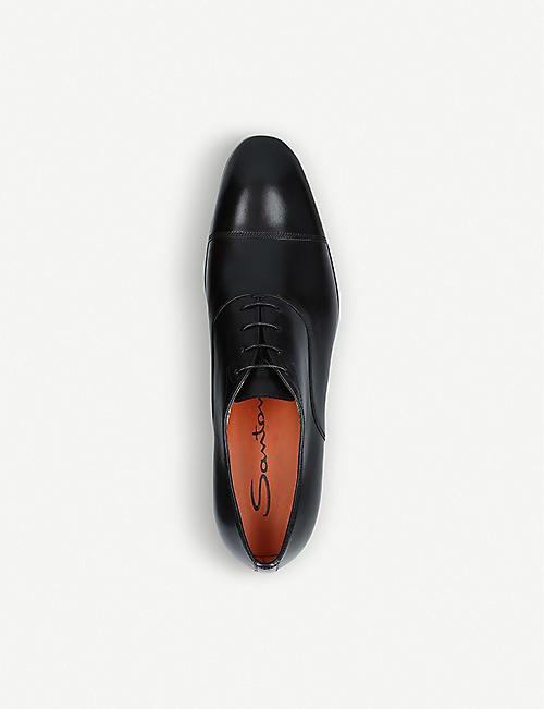 SANTONI Simon leather Oxford shoes