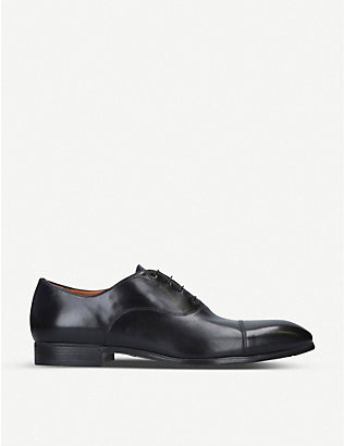 SANTONI: Simon leather Oxford shoes