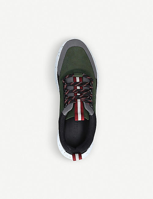 BALLY Bisko suede and mesh trainers