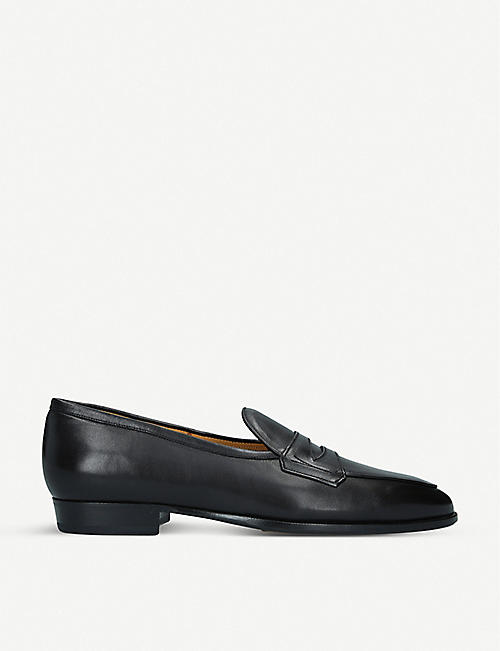 BAUDOIN & LANGE: Sagan Grand leather penny loafers