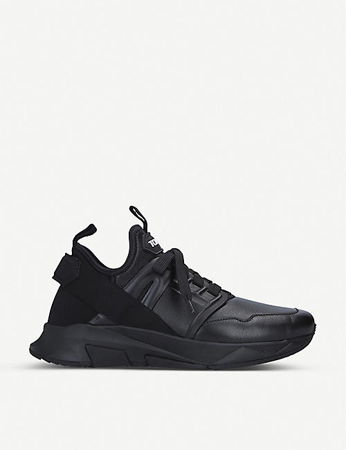 TOM FORD Jago leather trainers