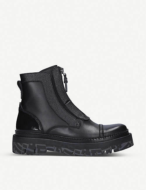 ERMENEGILDO ZEGNA Fashion Show leather ankle boots