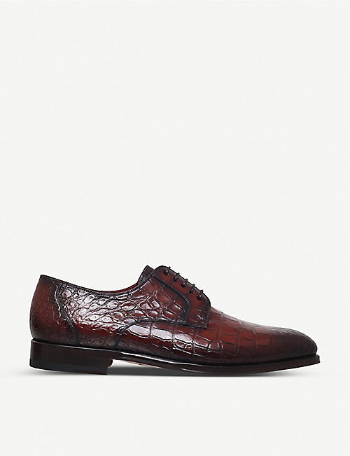 MAGNANNI Alligator leather derby shoes