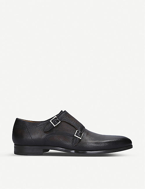 MAGNANNI Ferreira II leather double monk strap shoes