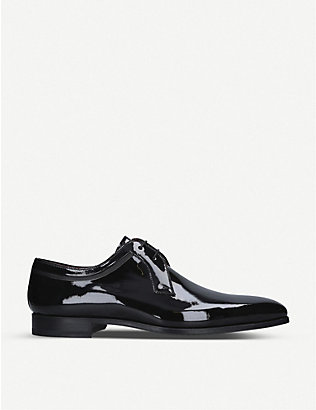 MAGNANNI: Evening Derby patent leather shoes