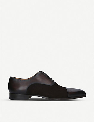MAGNANNI: Toecap Oxford leather shoes