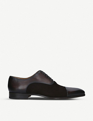 MAGNANNI Toecap Oxford leather shoes