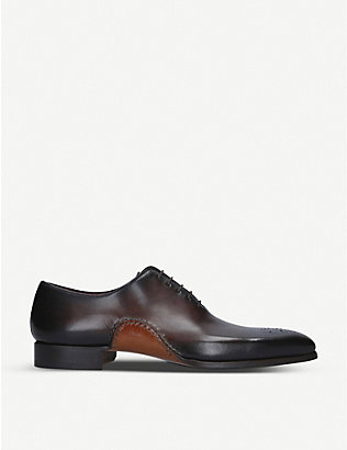 MAGNANNI: Opanka wholecut leather oxford shoes