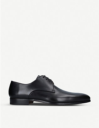 MAGNANNI: Derby leather shoes