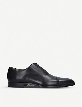 MAGNANNI: Toe cap leather oxford shoes