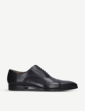 MAGNANNI Toe cap leather oxford shoes