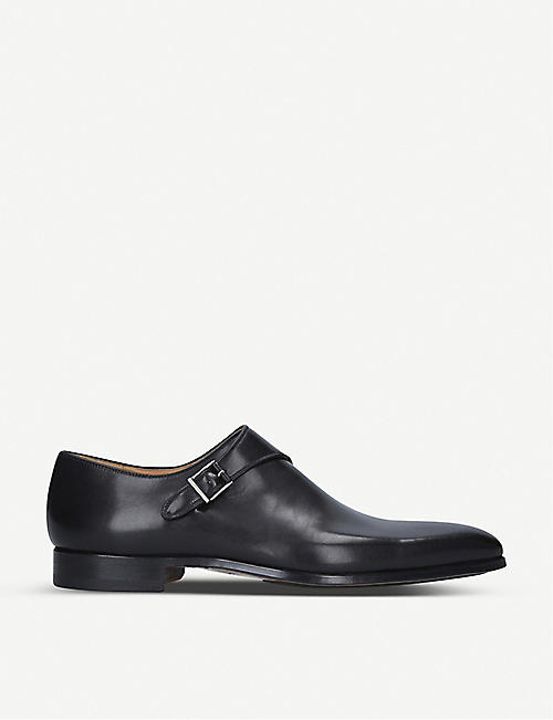 MAGNANNI Efren leather monk-strap shoes