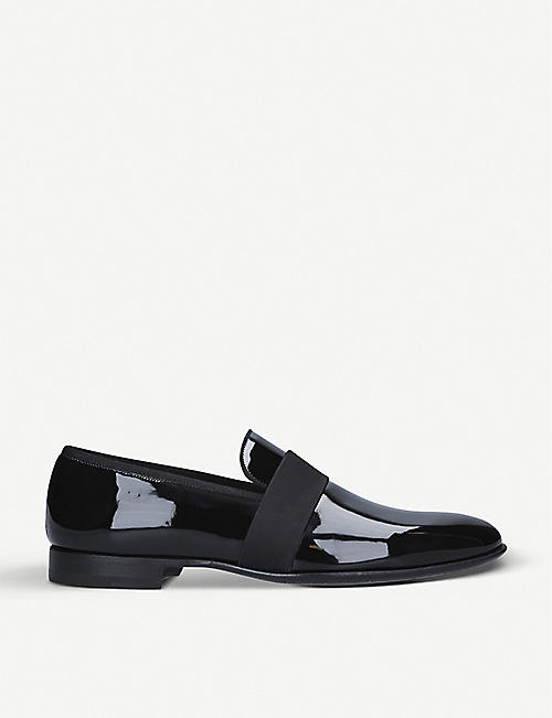 MAGNANNI: Patent leather tuxedo loafer
