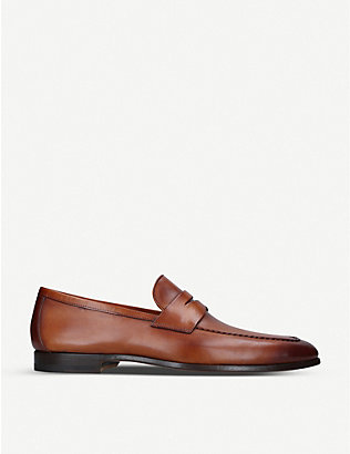 MAGNANNI: Leather penny loafers