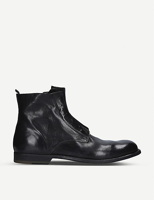 OFFICINE CREATIVE: Graphis leather boots