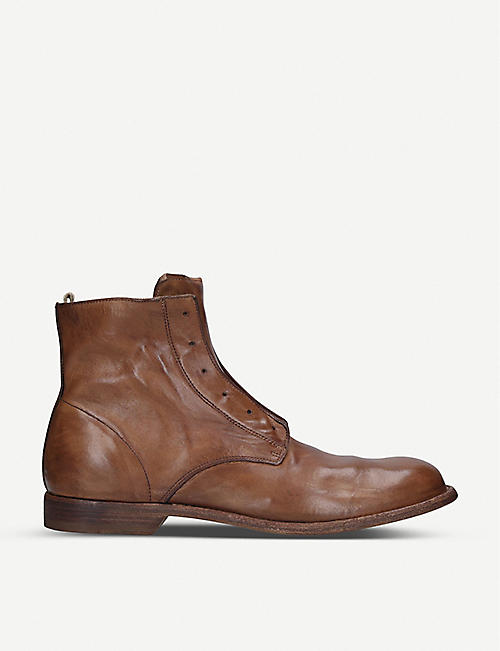 OFFICINE CREATIVE Graphis leather boots