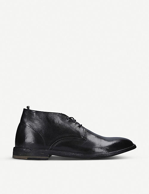 OFFICINE CREATIVE: Staple leather chukka boots